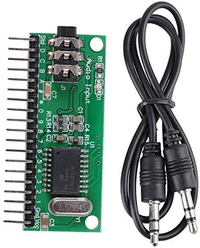 DIANLU26 Módulo de grabadora de audio MT8870 Módulo de voz de 16 canales DTMF Tarjeta de decodificador de audio para marcar y decodificar teléfonos celulares y teléfonos fijos Rendimiento estable