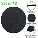 CoalFilters 6.7Inch Charcoal-Filter for Kitchen Compost Bin Pail Replacement-12 Pack