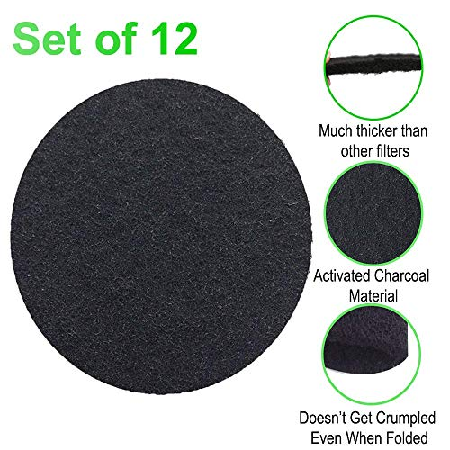 Great Deal! CoalFilters 6.7Inch Charcoal-Filter for Kitchen Compost Bin Pail Replacement-12 Pack
