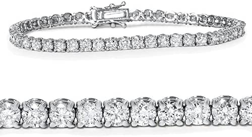 5ct Diamond Tennis Bracelet 14K White Gold 7 product image