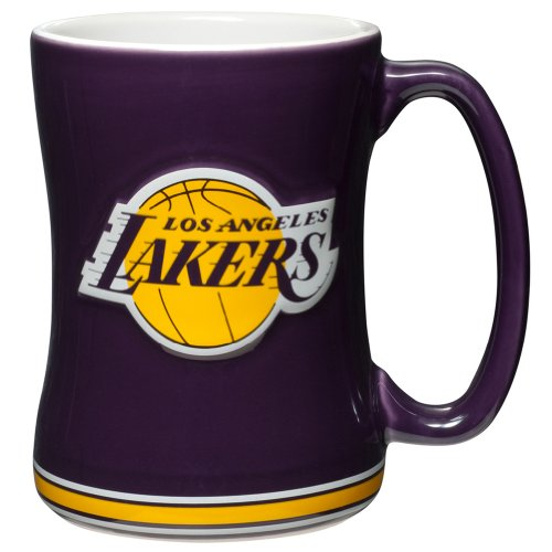 Boelter Brands NBA Los Angeles Lakers 276606 Coffee Mug, Team Color, 14 oz