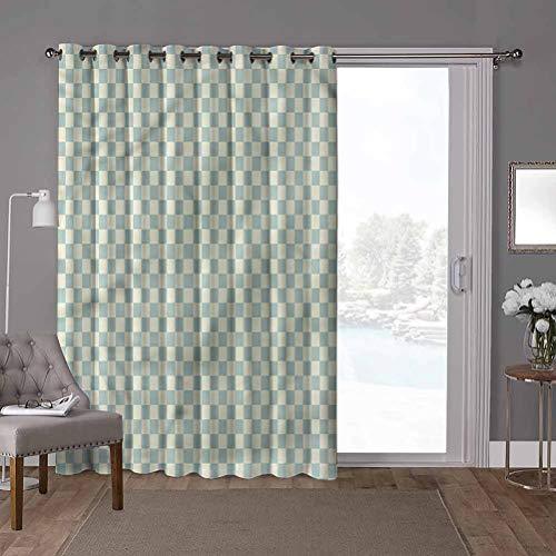 YUAZHOQI - Cortina divisora de habitación, geométrica, diseño vintage, 100 x 108 pulgadas, divisor decorativo de habitación (1 panel)