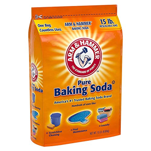 use baking soda to remove scratches in cooktop
