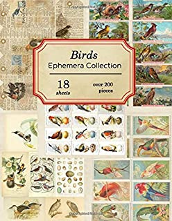 Birds Ephemera Collection: 18 sheets - over 200 vintage Ephemera pieces for DIY cards, journals and other paper crafts (Vintage Ephemera Collection)