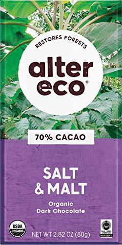 image of Alter Eco Organic 70% Cacao Salt & Malt Deep Chocolate