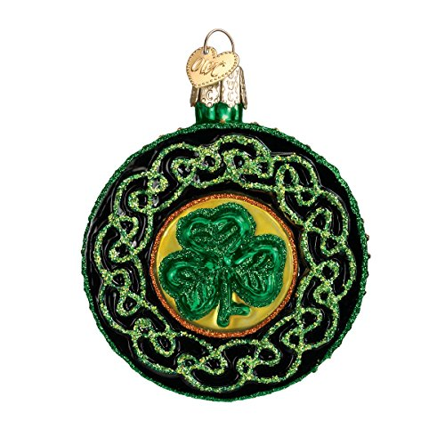 Old World Christmas Irish Gift Collection Glass Blown Ornaments for Christmas Tree Celtic Brooch