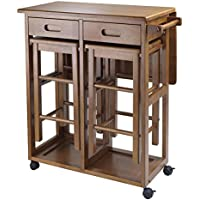 Winsome Wood Suzanne 3-Piece Space Saver Kitchen Set (Teak)