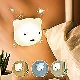 Etmury LED Nachtlicht Kinder, 3M Nachtleuchte Baby Touch Lampe fr Schlafzimmer, Nachttischlampen mit Gelbem & Weiem Licht & Touch Schalter, Nachtlampe fr das Lesen, Schlafen und Entspannen