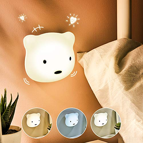Etmury LED Nachtlicht Kinder, 3M Nachtleuchte Baby Touch Lampe für Schlafzimmer, Nachttischlampen mit Gelbem & Weißem Licht & Touch Schalter, Nachtlampe für das Lesen, Schlafen und Entspannen (Vater)