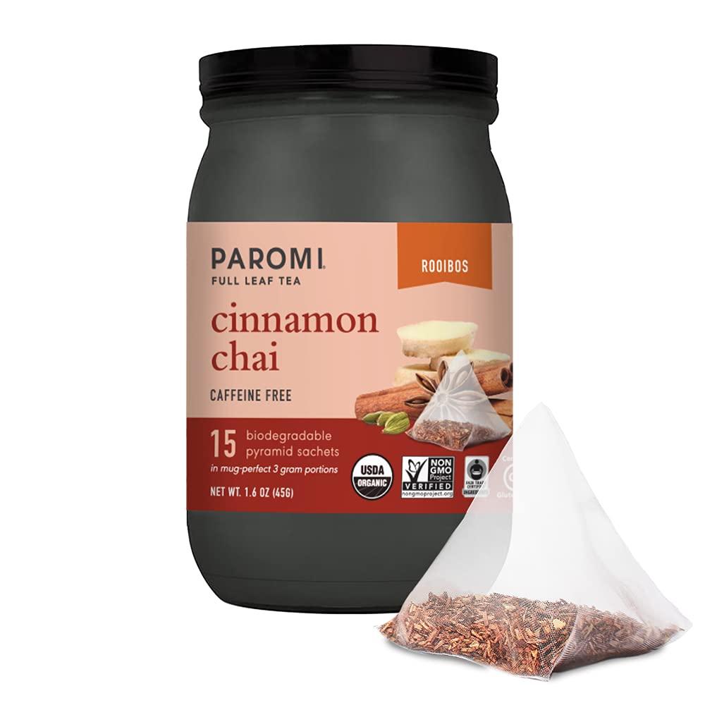 Paromi Cinnamon Chai Rooibos Organic Oakland Mall Coun Signature Tea Jar Mail order cheap 15