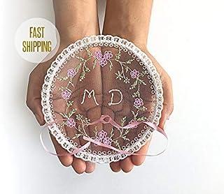 Monogram Ring Holder, Ring Bearer, Boho Wedding, Pillow, Alternative