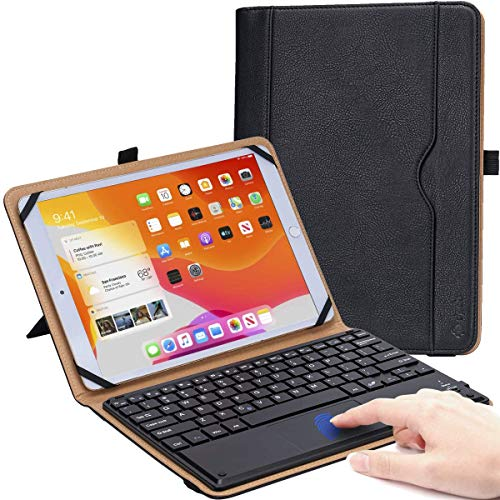 DPOB Funda Universal para Tablet de Pulgadas, Funda Protectora para Pantalla TáCtil de 9 - 11 Pulgadas, Funda Fina Ligera con Teclado InaláMbrico MagnéTico ExtraíBle
