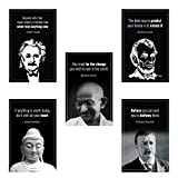 Leader Inspiration Wall Art History Posters I Leader Motivational Posters for Classroom Posters Bulletin Board Teachers Students Home Office   Set of 5   11.7