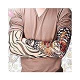 Manicotti per tatuaggi temporanei,Motorcycle Sleeve Sun Protection, New Hot Driving Sunscreen Arm Tatoo Sleeve Man & Woman Cool Cycling Temporary Flash Tattoo Stretchy Scorpion Fake Tattoo Sleeves