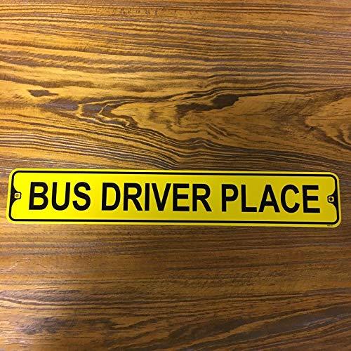 BDTS Metal Street Sign Bus Driver Place School Openbaar vervoer Garage Decor Outdoor Indoor Street Sign 4x16 inch