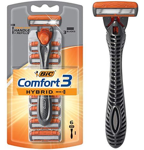BIC Flex 5 Titanium Men's Disposable Razor, Five Blade, 3 Count, Adjusting Blades for an Ultra-Close Shave