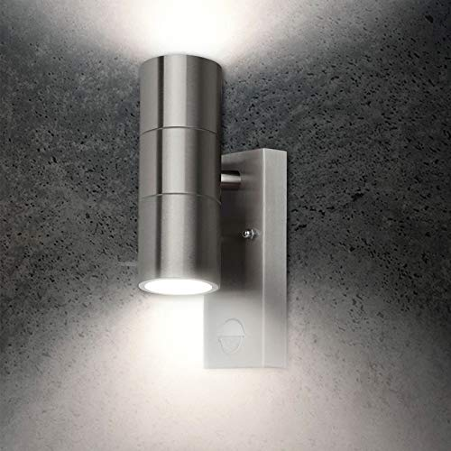 Grafner 26APIR Wandlampe mit Bewegungsmelder, GU10, edelstahl