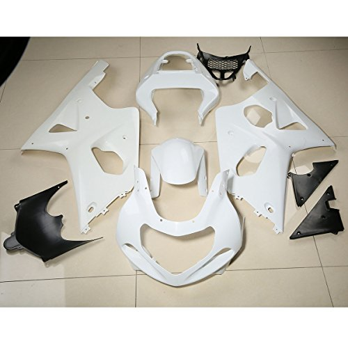 XMT-MOTO Injection ABS Fairing Bodywork Kit fits for Suzuki GSXR1000 2000 2001 2002,Unpainted White