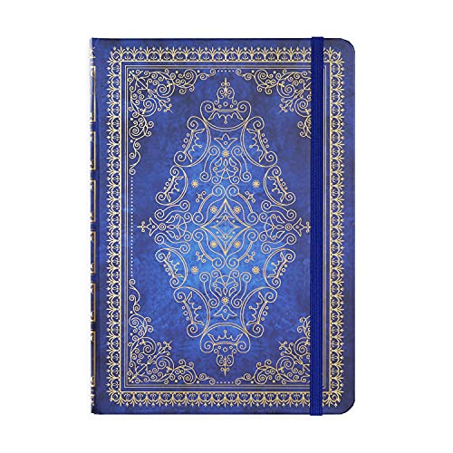 Ruled Notebook/Journal - Lined Journal with Hardcover, 5.1' x 8.3', Elastic Closure Band and Inner Pocket, Perfect for School, Office & Home