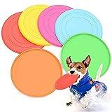 Gwolf Disco Volante per Cani, Frisbee per Cani 6 Pezzi, Disco per Frisbee in Silicone, Giocattolo per volantini per Cani, Frisbee Volante, Disco Volante per Animali Domestici, Cane per Frisbee