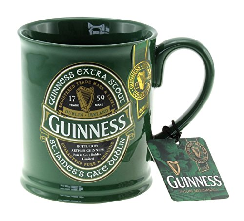 McLaughlin's Irish Shop Guinness Becher mit grünem Sonderlogo.
