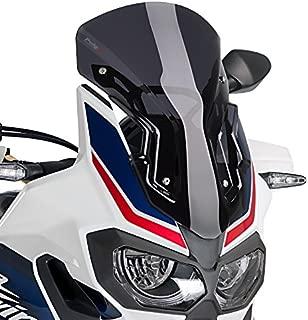 Justech D/éflecteur de Moto Clip R/églable Pare-brise D/éflecteur de Vent sur Pare-brise dExtension Universel 36 16cm pour Courses Moto V/élo-Smoky