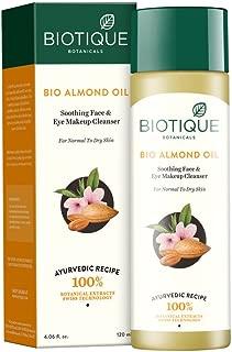 Biotique Almond Oil Soothing Face & Eye Make Up Cleanser 120Ml/4.06Fl.Oz.