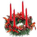 VIPNAJI Corona de Adviento de Navidad Calendario de Adviento Temporada Candelabro Coronas de Adviento Anillos de Navidad Adornos de Casa,Guirnalda de Mesa, decoración de Navidad (36m)