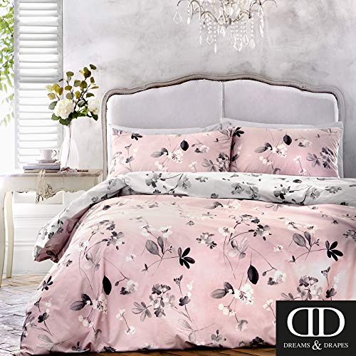 Dreams & Drapes Grace Parure de lit, 52% Polyester, 48% Coton, Rose, Double