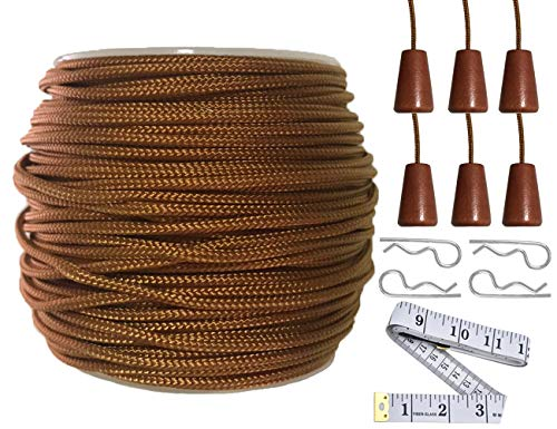 Y-Axis Roll of 60 Yards 2.0mm Light Brown (Bronze) Braided Nylon Lift...