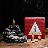 Qeepenl Inverso Incienso Quemador de Incienso Set de Incienso Yabai Pagoda de Flujo con Agua Nube Quemador de Incienso incensario Chino