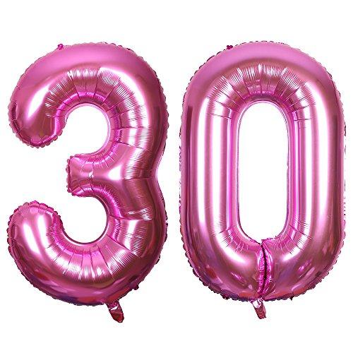 SMARCY Palloncini Gonfiabile Numero 30 Palloncini Compleanno 30 Anni Decorazioni Compleanno Rosa