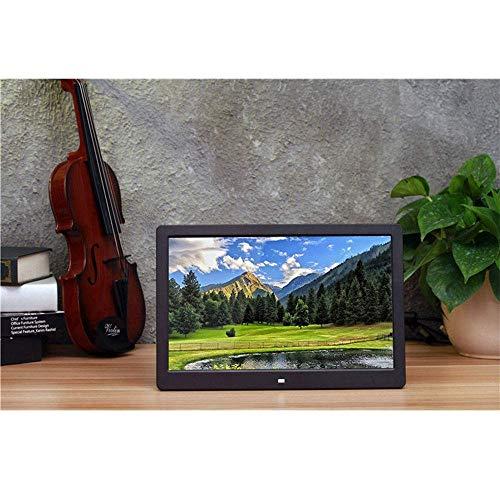 RANR 15-Zoll-Breitbild-Digitalbilderrahmen, HD 1280 * 800 LED-Bildschirm/Kalender/Uhr/Boot Spielen automatisch Fernsteuerungs-Foto- / Musik- / Video-Player,Black