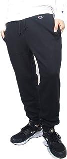 [チャンピオン] ロングパンツ ジョガーパンツ 裏毛 スウェットパンツ 綿100% ワンポイントロゴワッペン C3-Q202 メンズ
