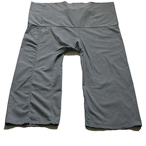 Grey-best Thai Fisherman Pants Yoga Trousers Free Size Toray Fabric (Light Cotton)
