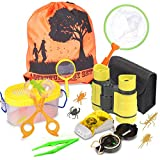 Outdoor Explorer Kit - Bug Catcher Kit with Binoculars, Compass, Magnifying Glass, Butterfly Net and Backpack Toy for Boys Girls Age 3-12 Year Old Camping Hiking