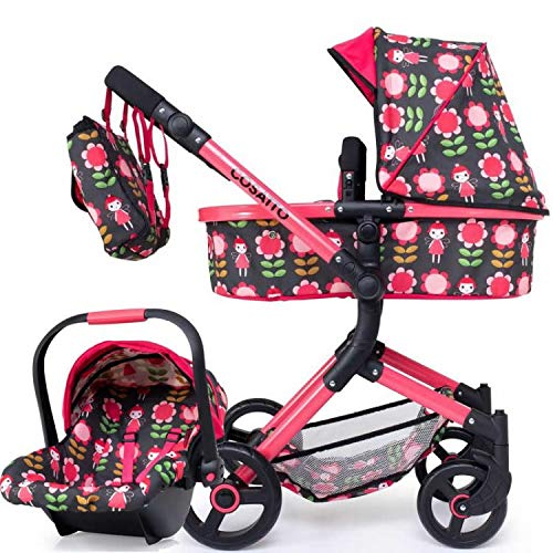 Cosatto Wonder Dolls pram in Fairy Garden with matching Car seat and bag