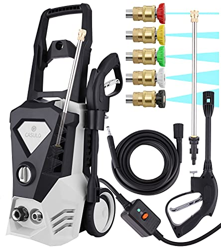 3500PSI Electric Pressure Washer 2.6GPM 1800W High Power Washer Machine with 5 Quick-Connect Nozzles for Car Patio Garden Yard Floor Cleaning