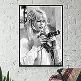 Brigitte Bardot Französisch Mode Poster Schwarz Und Weiß