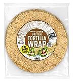 Body Attack Protein Tortilla Wraps, 14 x 280g (56 Wraps á 70g), vegan, 22 % Pflanzen-Proteine aus Weizen, Lupinen & Hafer, zuckerarm, kalt und warm geniessen, ballaststoffreich, Made in Germany