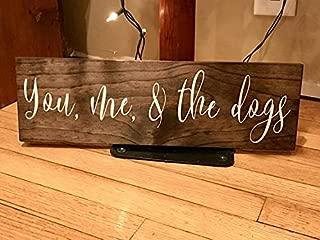 rfy9u7 You Me and The Dog, You Me and The Dog Sign, Dog Sign, Pet Sign You and Me and The Dog Wood Sign, Dog Sign, Wood Sign, Dog Lover, Dog Decor