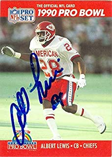 Albert Lewis autographed Football Card (Kansas City Chiefs) 1990 Pro Set #350 - NFL Autographed Football Cards