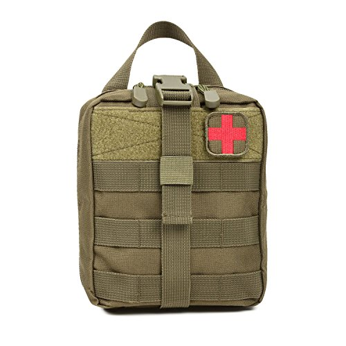 Orca Tactical MOLLE Rip-Away EMT Medical First Aid Pouch (Bag Only) (OD Green)