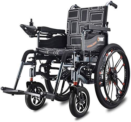 Silla de Ruedas eléctrica Plegable, Silla de ruedas Silla médica de rehabilitación, sillas de ruedas, Pesado Silla de ruedas eléctrica, plegable y ligero silla de ruedas eléctrica, 360 ° Joyst