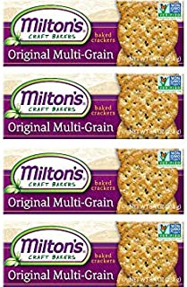 Milton's Gourmet Crackers. Multi-Grain Non-GMO Baked Crackers, 8.4 Ounce. Pack of 4. Packaging May Vary