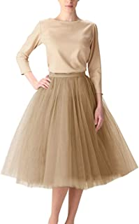 f9a56bd62d5 Wedding Planning Women s A Line Short Knee Length Tutu Tulle Prom Party  Skirt