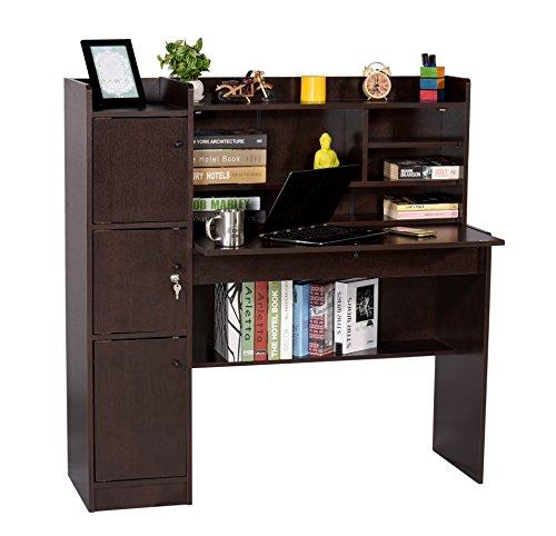 Deckup Versa Office Table and Study Desk Dark Wenge Matte F