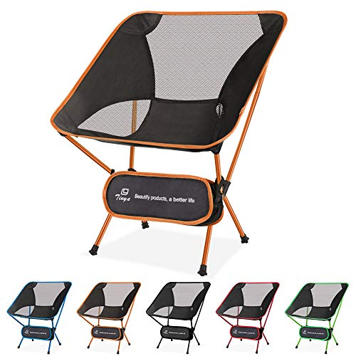 Tinya Ultralight Backpacking Camping Chair: Adults Backpacker Heavy Duty 230lb Capacity Packable Collapsible Portable Lightweight Compact Folding Beach Outdoor Picnic Travel Hiking
