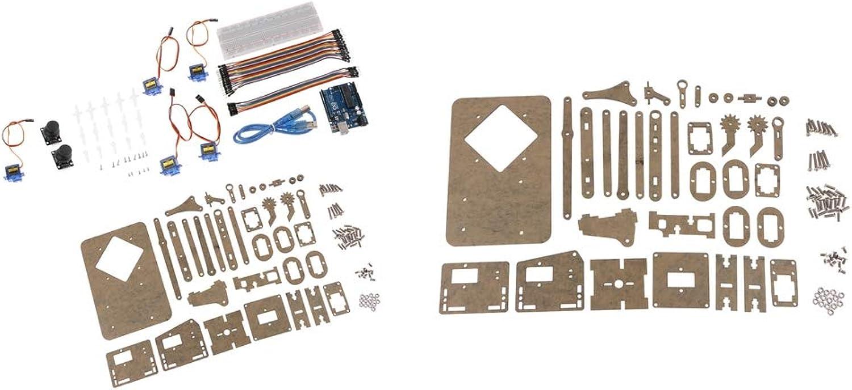 SM SunniMix 2 Set Mini Industrial Robotic Arm Kit DIY Robot Toy Gifts DIY Kit Without Servos