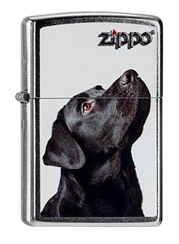 Zippo 60000206 Black Lab Feuerzeug, Messing, Edelstahloptik, 1 x 3,5 x 5,5 cm